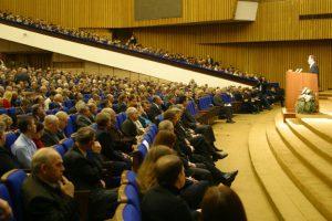 Делегаты и участники I съезда инженеров России в Большом Кремлевском зале