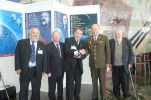 В зале регистрации Общероссийского Форума «Космос в мирных целях» (зал Мэрии Москвы)