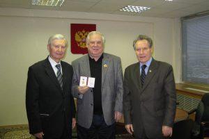 Вручение академику РИА Н.И.Рыжкову ордена «Инженерная слава»