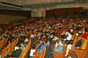 Участники Международной конференции «Бетон и железобетон» в большом зале Российской инженерной наук (РАН)